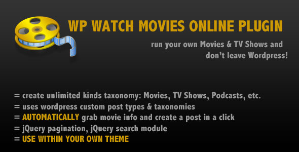 CodeCanyon WP Watch Movies & TV Shows Online 7265723