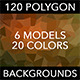 120 Polygon Backgrounds - Mixed Colors Vol. 2 - GraphicRiver Item for Sale