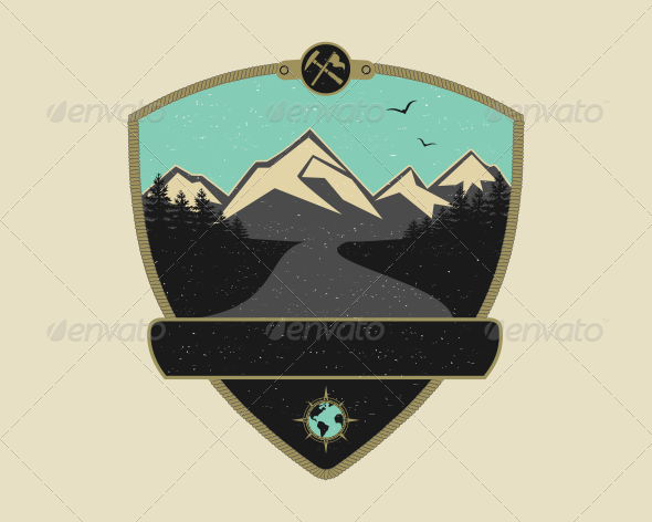 GraphicRiver Retro Adventure Emblem 7266128