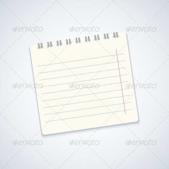 GraphicRiver Modern Notebook on Gray Background 7266181
