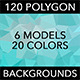 120 Polygon Backgrounds - Soft & Light Colors 2 - GraphicRiver Item for Sale