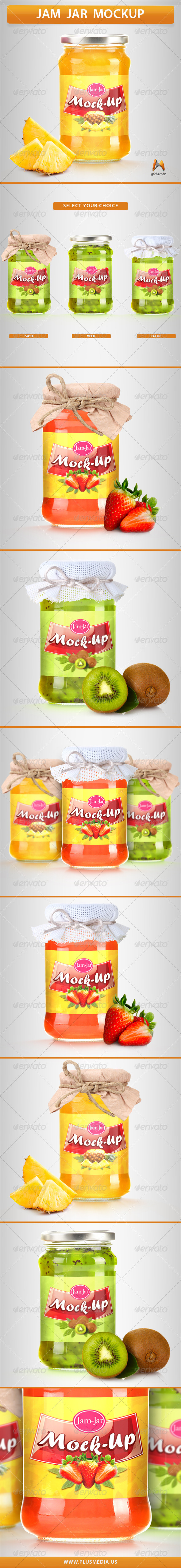 GraphicRiver Jam Jar Mockup 7266781