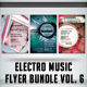 Electro Music Flyer Bundle Vol. 6 - GraphicRiver Item for Sale