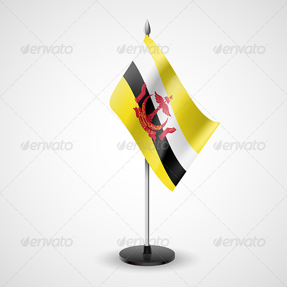 GraphicRiver Table Flag of Brunei 7267261