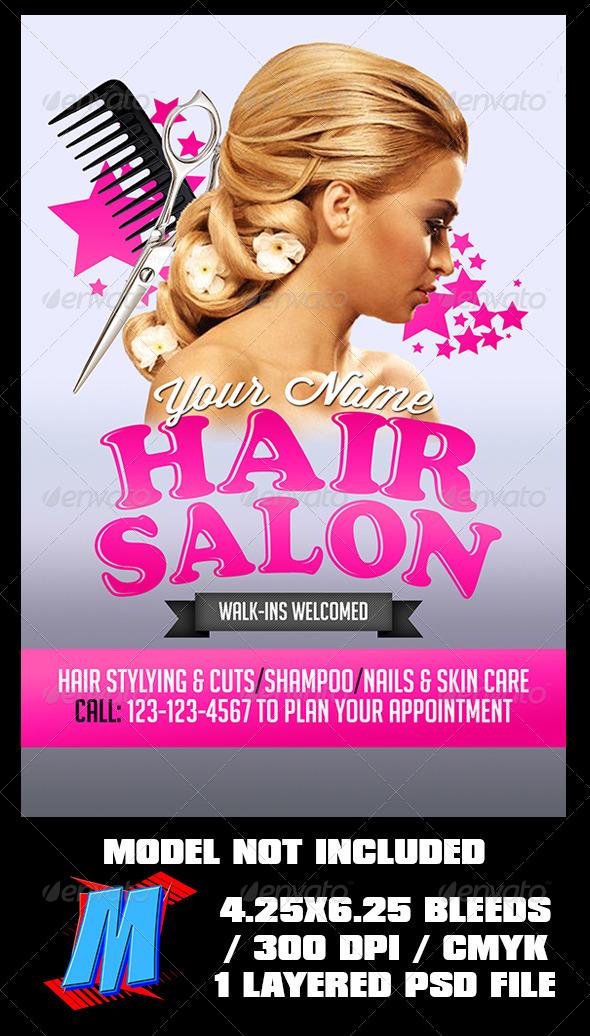 GraphicRiver Hair Salon Flyer Template 7268706
