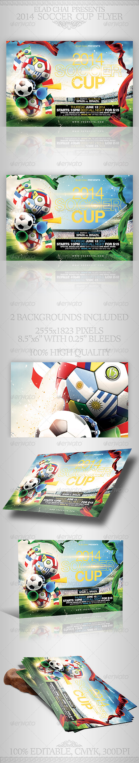 GraphicRiver 2014 Brazil Soccer Football World Cup Flyer 7092228