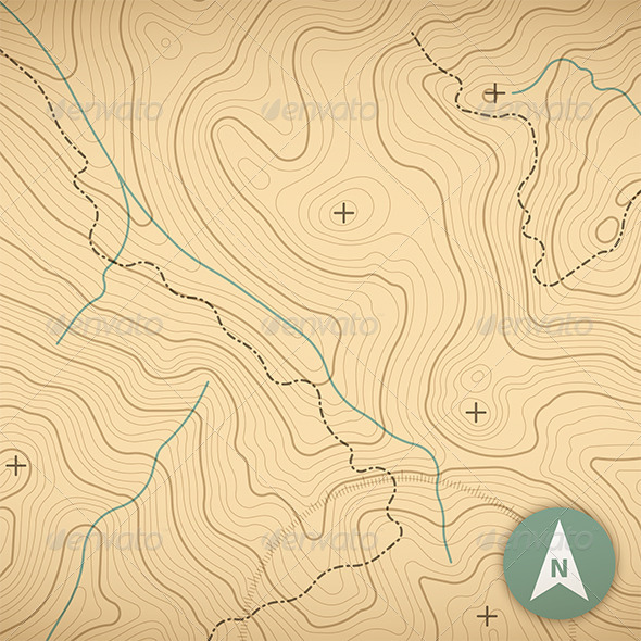 GraphicRiver Topographic Map 7269025
