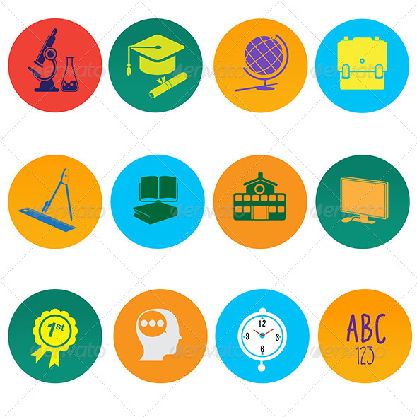 GraphicRiver Education Icons 7269038