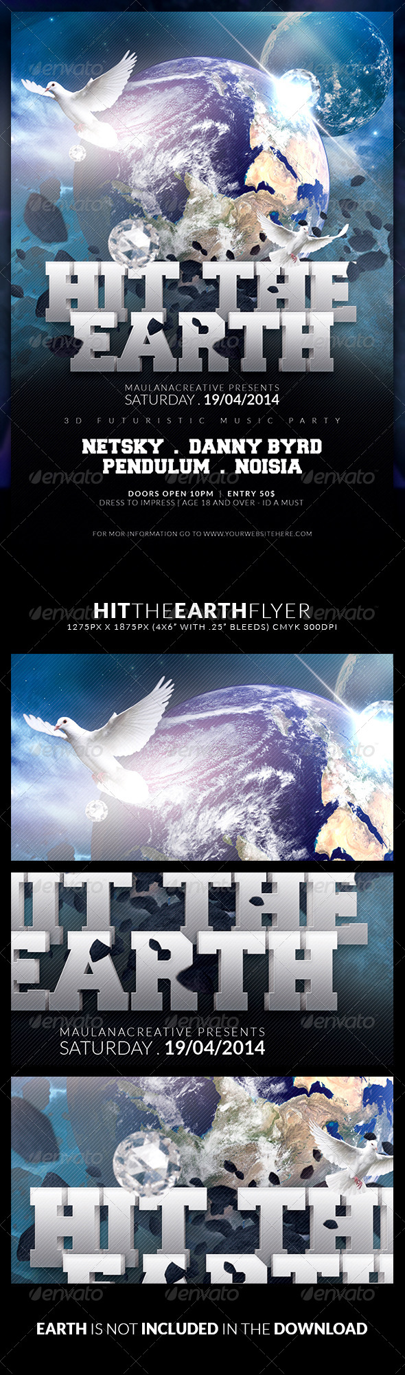 GraphicRiver Hit the Earth Flyer 7269217