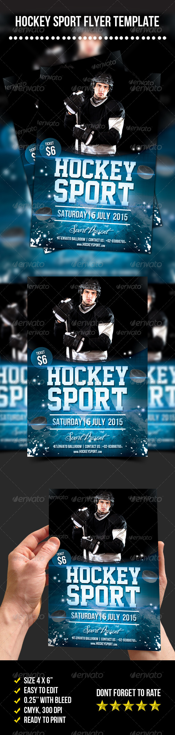 GraphicRiver Hockey Sport Flyer 7269568