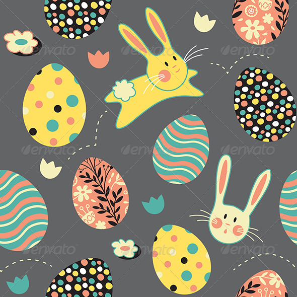 GraphicRiver Easter Bunny Egg Repeat Pattern 7269586