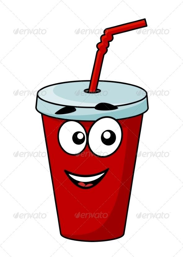 GraphicRiver Cartoon Takeaway Soda Drink 7269697