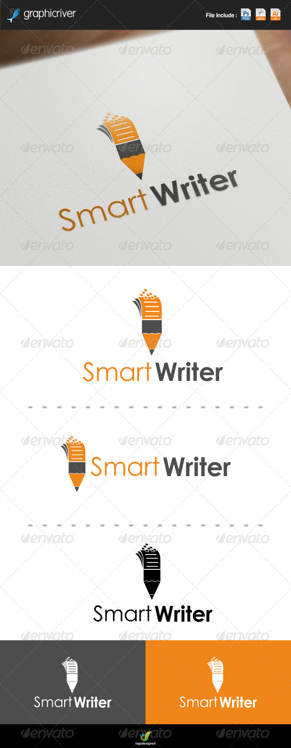 GraphicRiver Smart Writer Logo 7269702