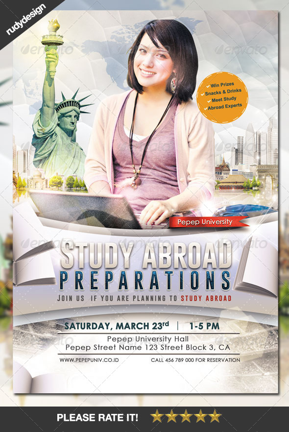 GraphicRiver Study Abroad School College Flyer Template 7269728