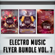 Electro Music Flyer Bundle Vol. 7 - GraphicRiver Item for Sale