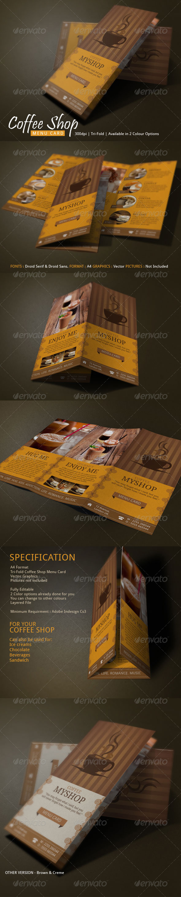 GraphicRiver Coffee Shop Menu 7270169