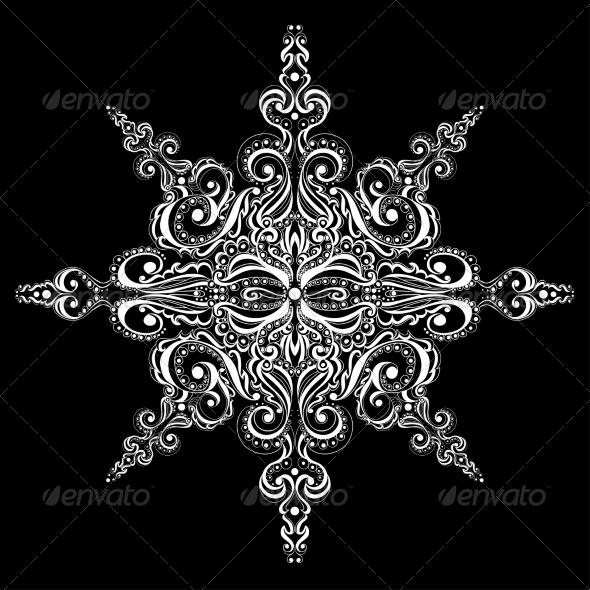 GraphicRiver Ornamental White Snowflake 7270208
