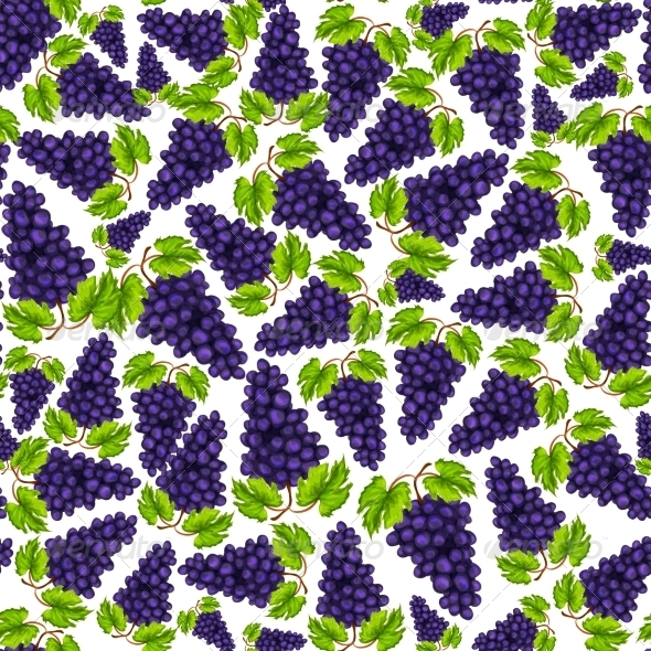 GraphicRiver Grapes Pattern 7270500