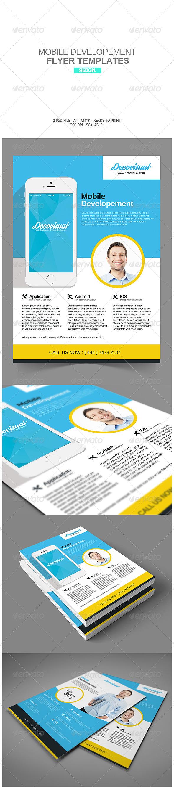 GraphicRiver Mobile Developement Flyer 7270540