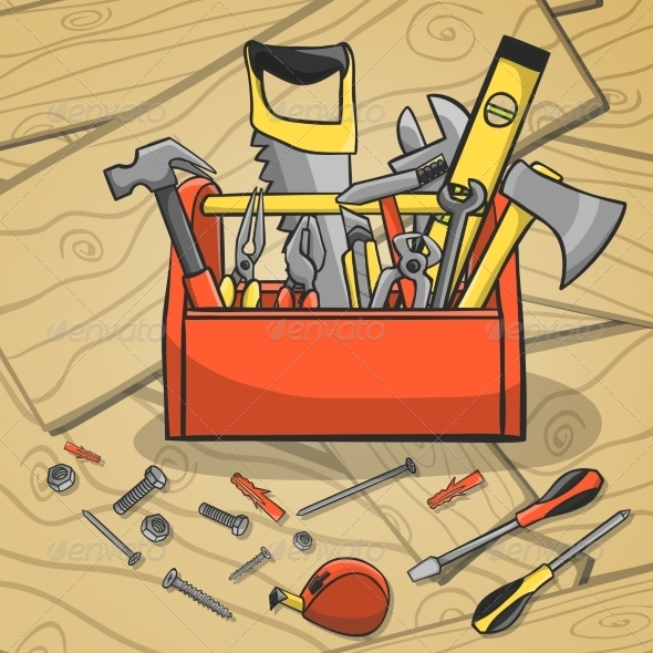 GraphicRiver Working Toolbox and Instruments Kit 7270542