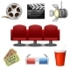 Cinema Entertainment Decorative Icons - GraphicRiver Item for Sale