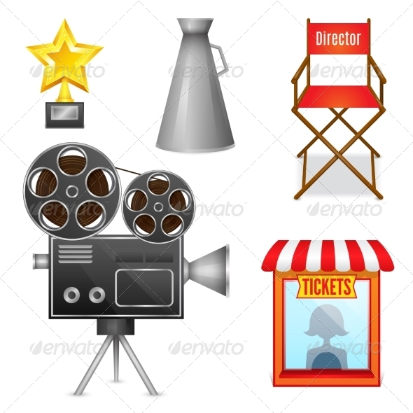 GraphicRiver Cinema Entertainment Decorative Icons 7270640