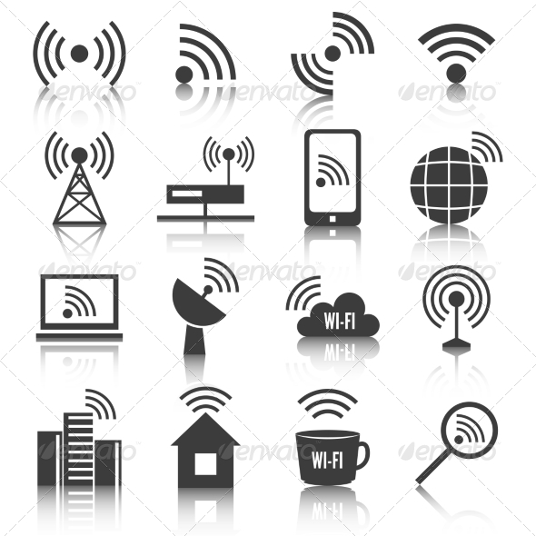 GraphicRiver Wireless Communication Network Icons Set 7270657