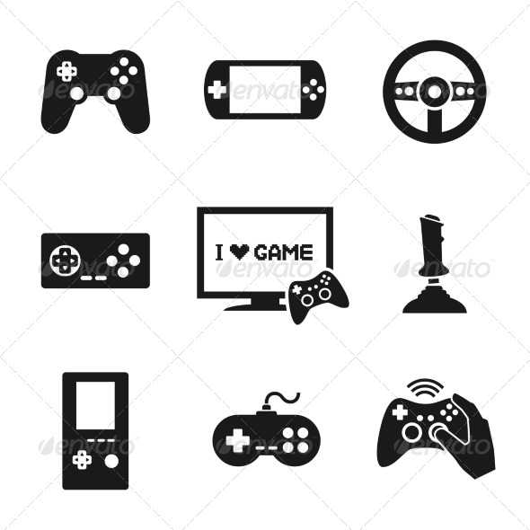 GraphicRiver Video Games Controller Icons Set 7270661