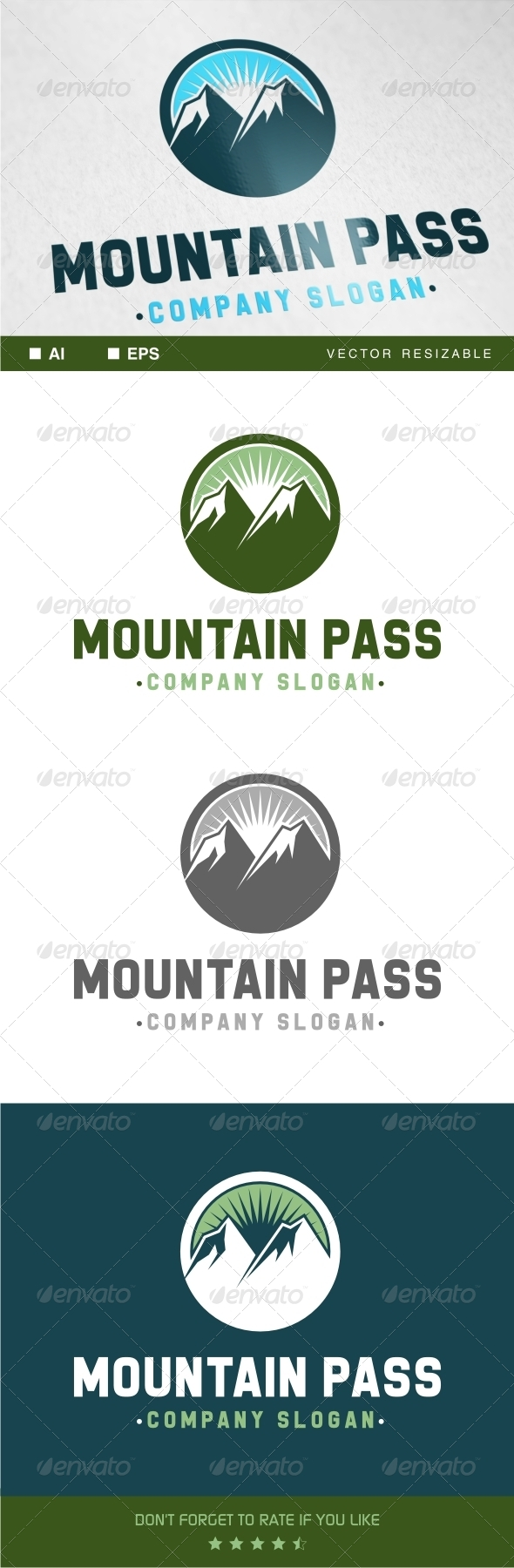 GraphicRiver Mountain Pass Logo 7270951