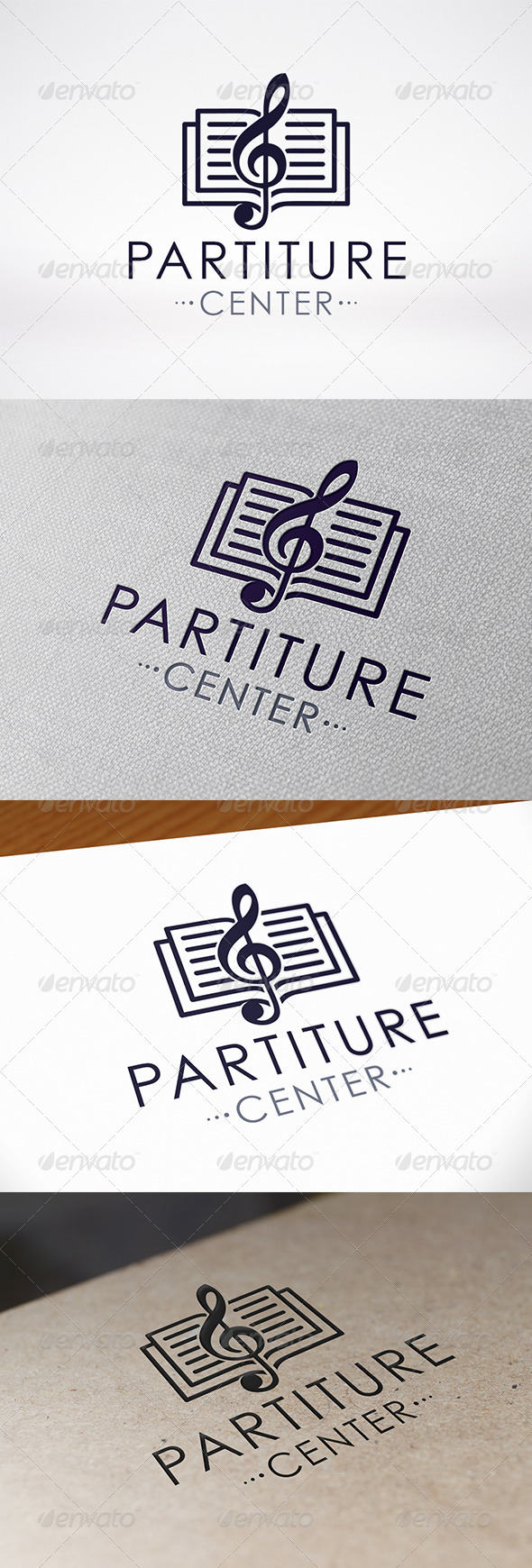 GraphicRiver Music Book Logo Template 7270958