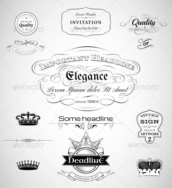 GraphicRiver calligraphic design elements 7271434