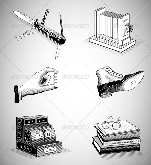 GraphicRiver Vintage Icons 7271437