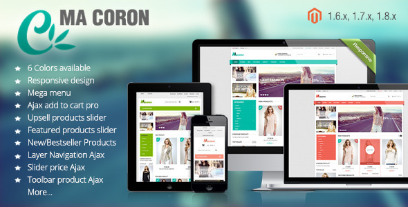 ThemeForest Coron Fashion Responsive Magento Theme 7271939