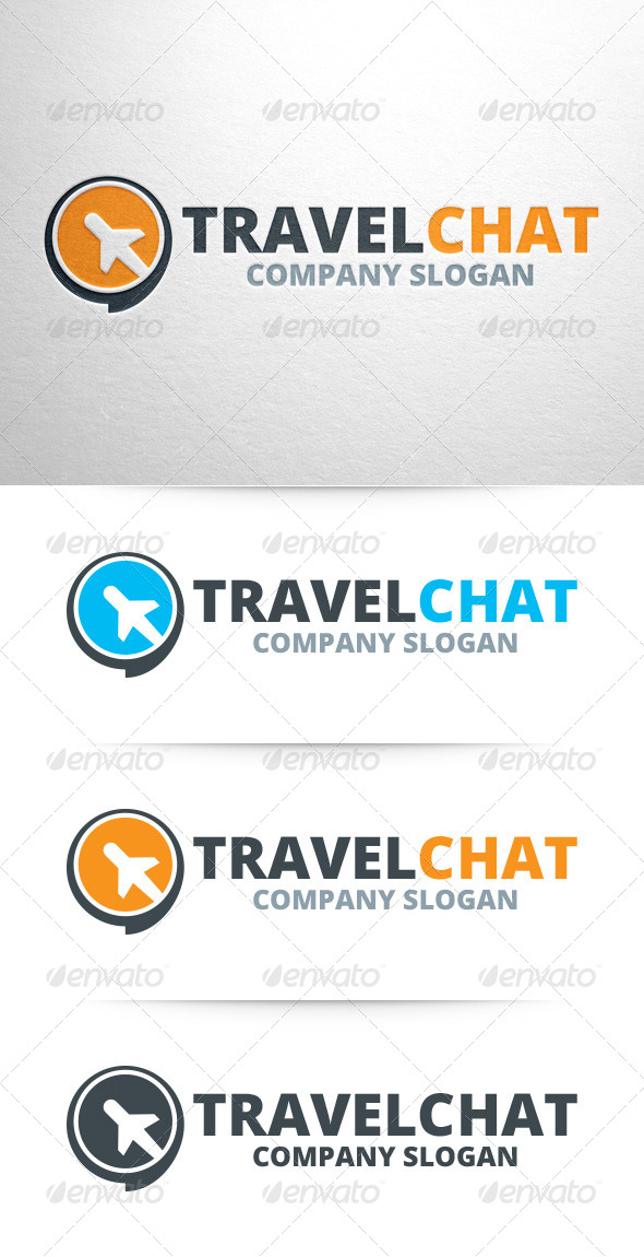 GraphicRiver Travel Chat Logo Template 7272029