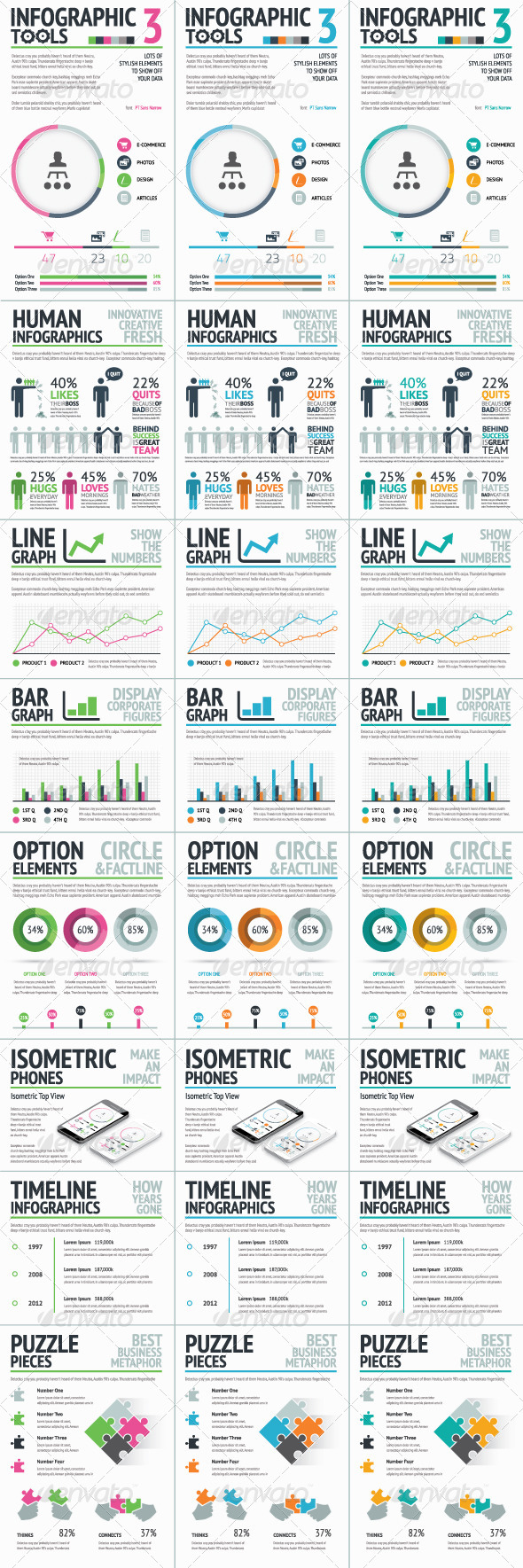 Infographic Tools Set 3 - Infographics