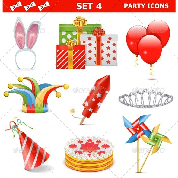 GraphicRiver Party Icons Set 4 7272081
