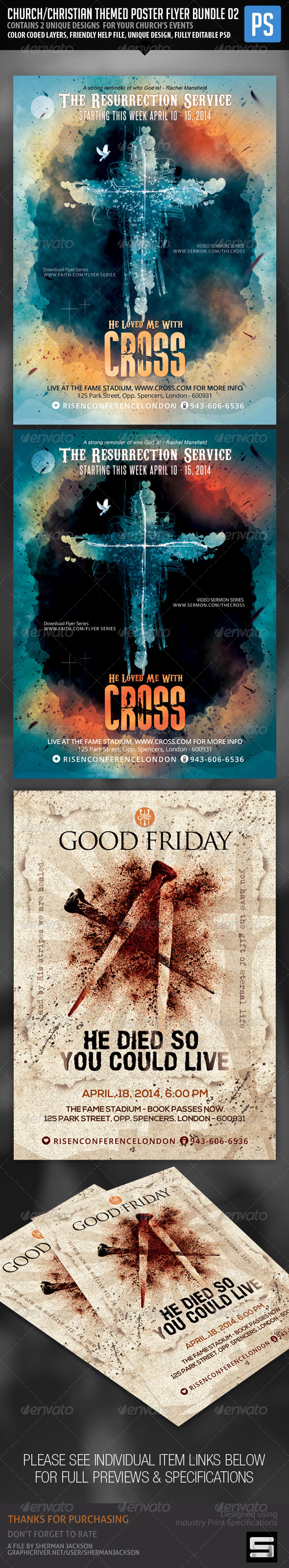 GraphicRiver Church Christian Themed Poster Flyer Bundle#2 7272100