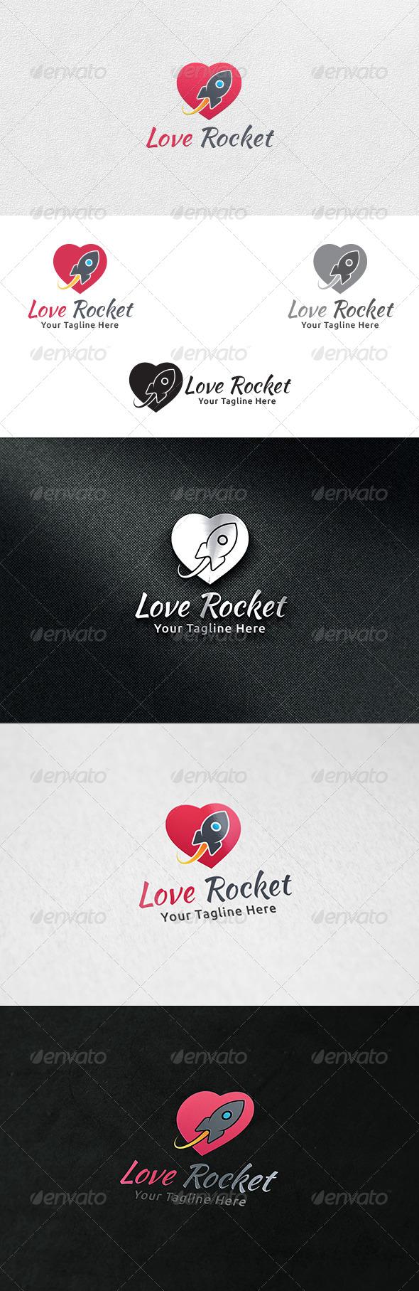 GraphicRiver Love Rocket Logo Template 7272134