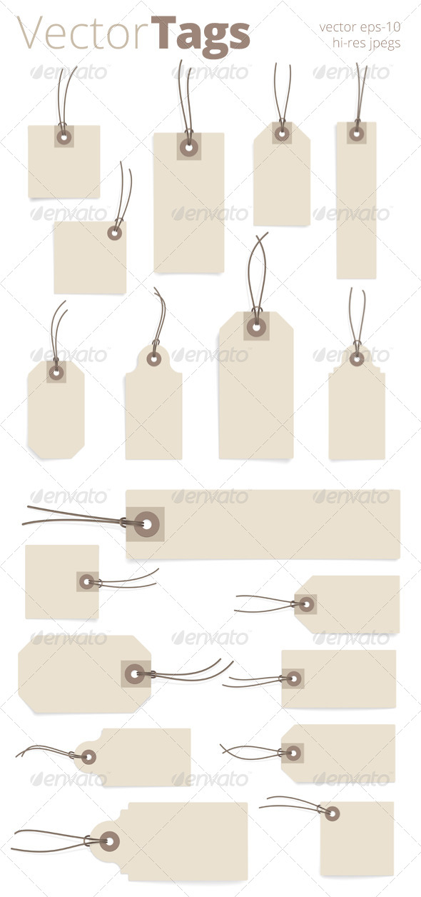 GraphicRiver Paper Tag Set 7272136
