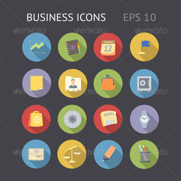 GraphicRiver Flat Icons for Business 7272165