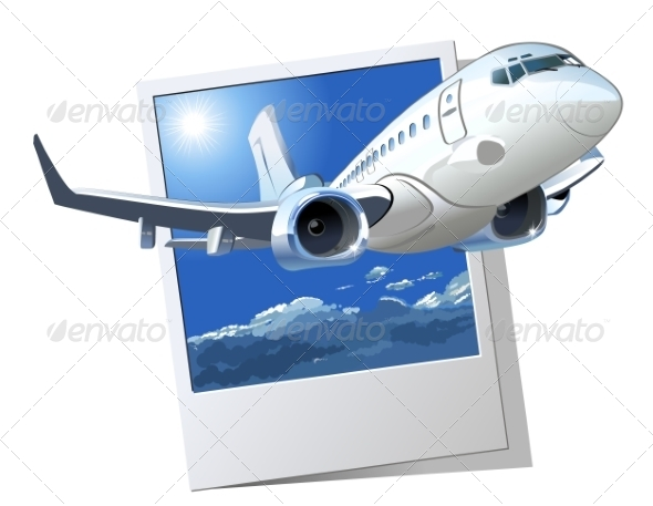 GraphicRiver Vector Cartoon Airliner 7272221