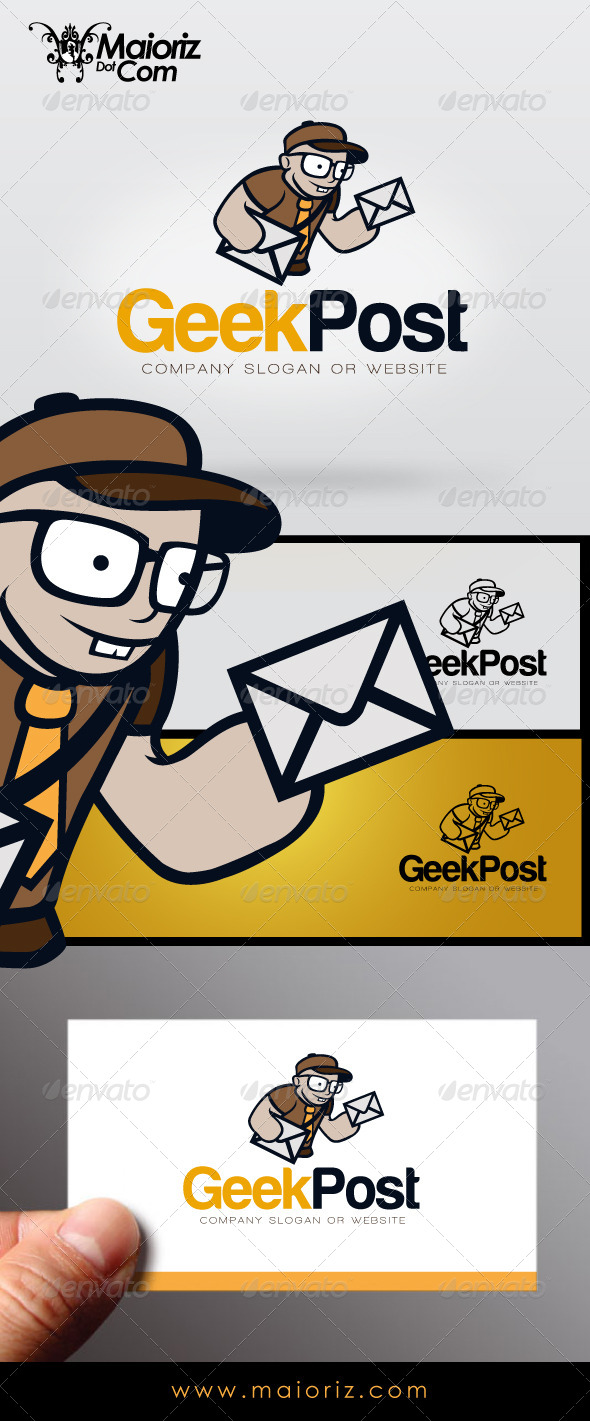 GraphicRiver Geek Post Logo 7272623