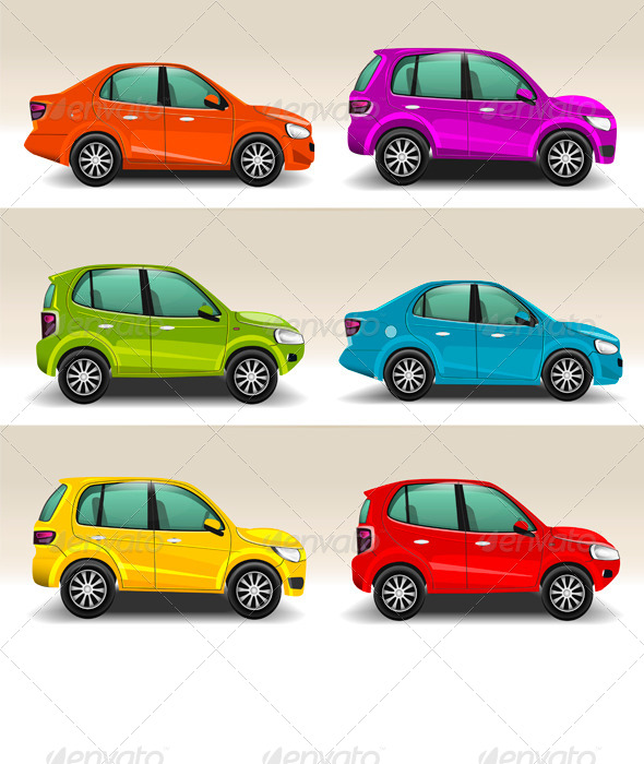 GraphicRiver Colorful Cars 7272877