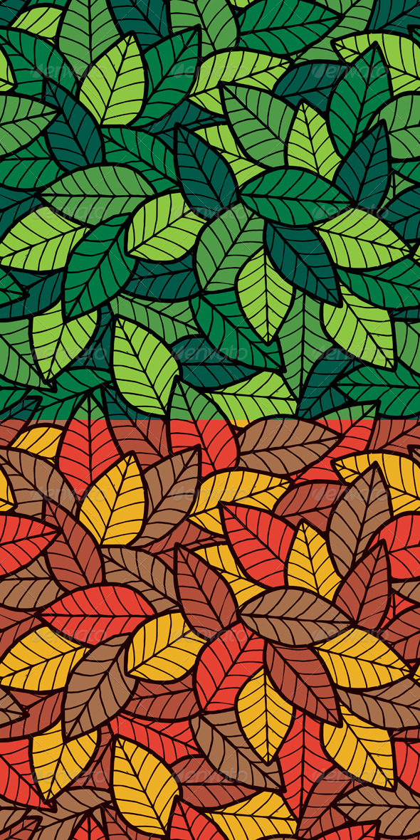 GraphicRiver Leafs Seamless Pattern 7251777