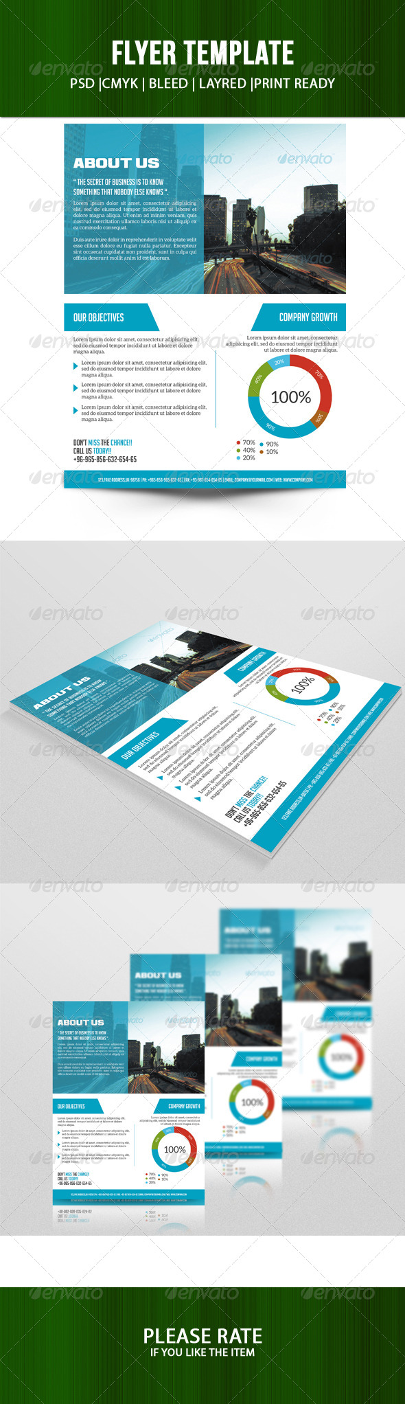 GraphicRiver Business Flyer Template 7272970