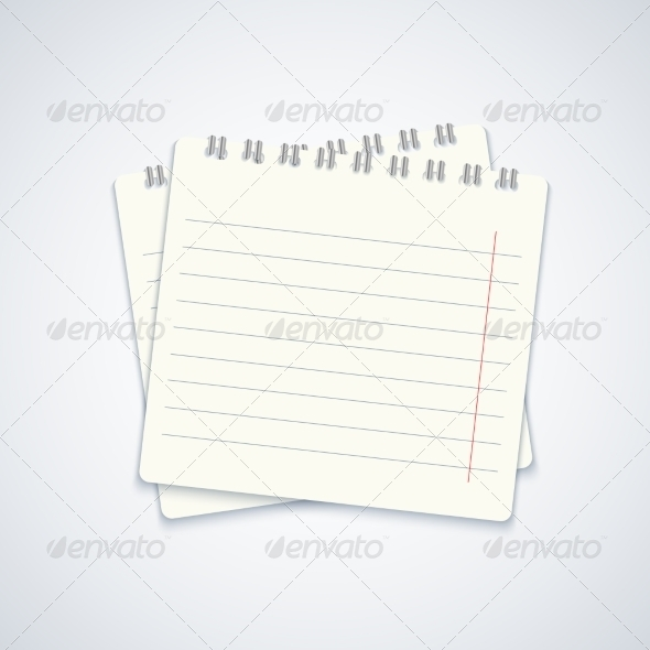 GraphicRiver Modern Notebook on Gray Background 7272989