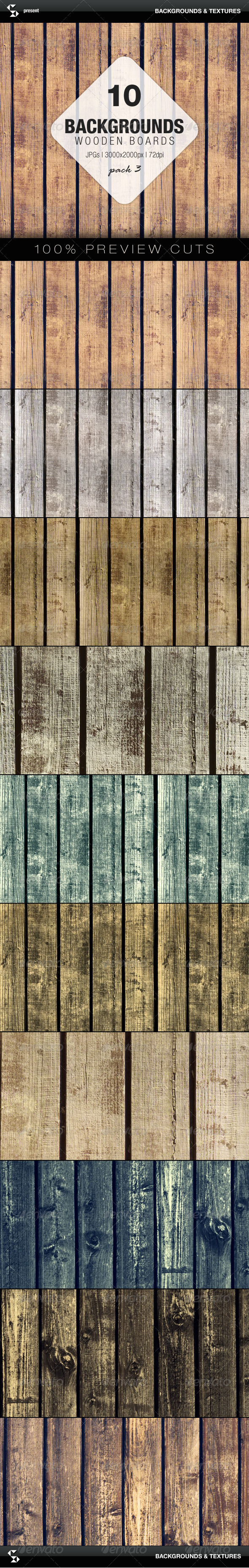 GraphicRiver Wooden Boards Background 3 7273156