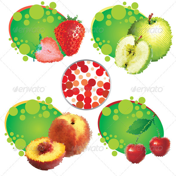 Graphic River Summer Fruit Vectors -  Objects  Food 758752