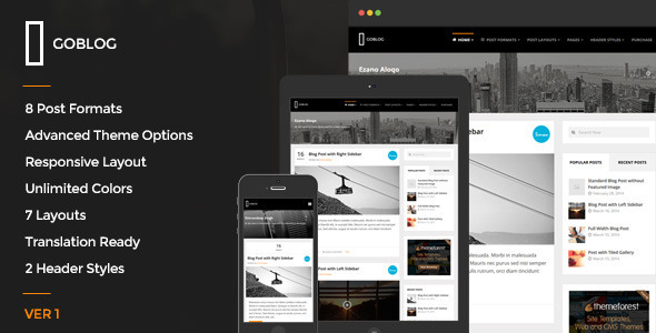ThemeForest GoBlog Responsive WordPress Blog Theme 7216144