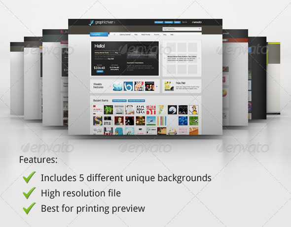 GraphicRiver Mock-up Master Product Display Series 01 105978